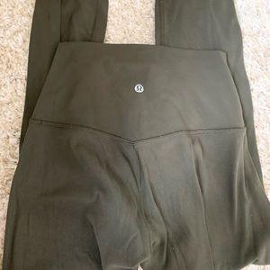 Pants - Lululemon army green align leggings size 4